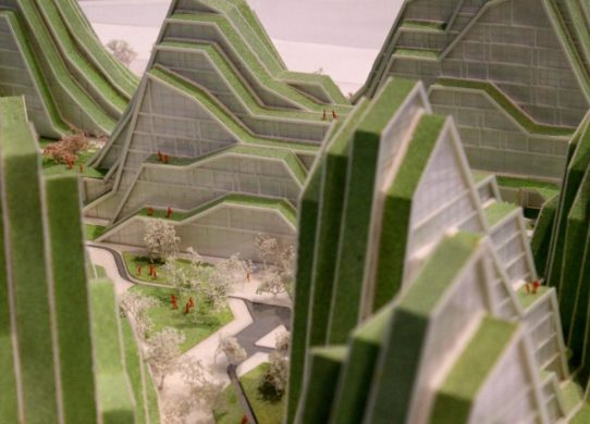 Green building, model design BIG - Bjarke Ingels Group, photo by Kulturexpress