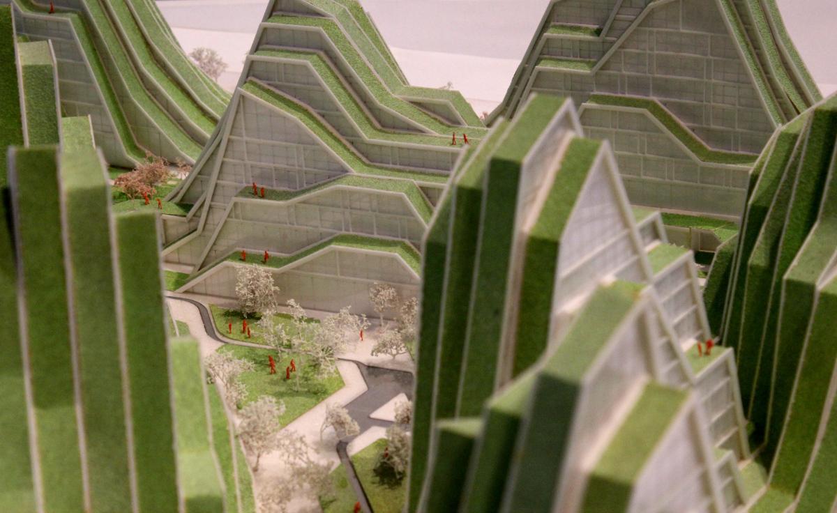 Green building, model design BIG - Bjarke Ingels Group, photo by Kulturexpress